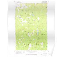 USGS Topo Map Washington State WA Cliff Ridge 240571 1964 24000 Poster