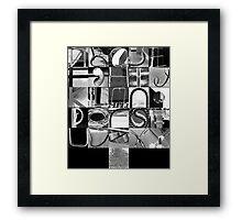 Urban Alphabet Framed Print