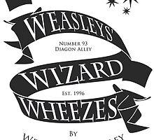 Weasleys' Wizard Wheezes (B&W) by thegadzooks