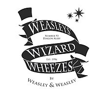 Weasleys' Wizard Wheezes (B&W) Photographic Print