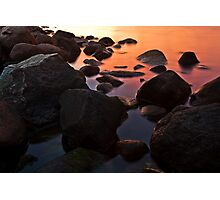 water and stone color Photographic Print