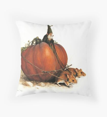Pumpkin Goblin Throw Pillow