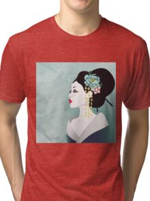 Japanese woman Tri-blend T-Shirt