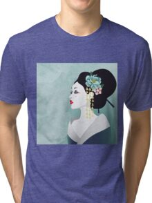 Japanese woman Tri-blend T-Shirt
