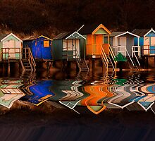 WELLS BEACH HUTS by Norfolkimages