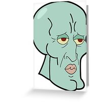 Squidward - spongebob art Greeting Card