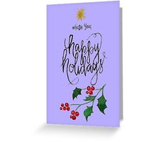 Greeting Card Christmas lettering Greeting Card