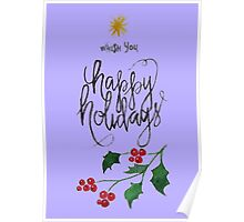 Greeting Card Christmas lettering Poster