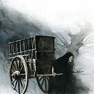 The Witch and her cart by JBMonge