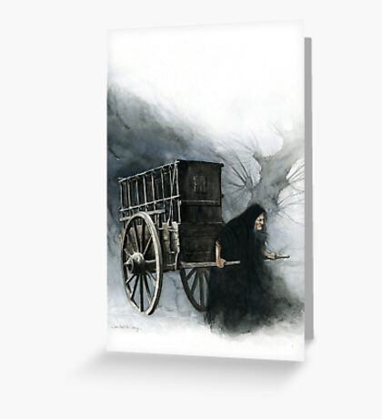 The Witch and her cart Greeting Card