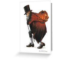 The Bogeyman and the Pumpkin Greeting Card