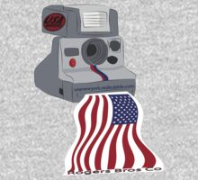 usa warriors flag camera by rogers bros T-Shirt