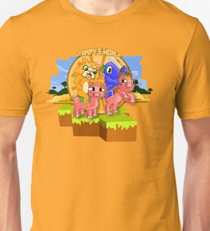 Mister Stampy Cat and Ballistic Squid riding piggies Unisex T-Shirt