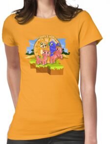 Mister Stampy Cat and Ballistic Squid riding piggies Womens Fitted T-Shirt