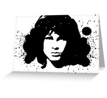 Jim morrison grafiti art Greeting Card