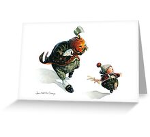 Jack O'Lantern - Run ! Greeting Card
