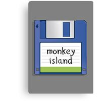 Monkey Island Retro MS-DOS/Commodore Amiga games Canvas Print