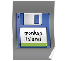 Monkey Island Retro MS-DOS/Commodore Amiga games Poster