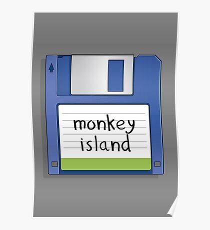 Monkey Island Retro MS-DOS/Commodore Amiga games Poster