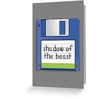 Shadow of the beast Retro MS-DOS/Commodore Amiga games Greeting Card