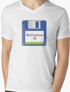 Wolfenstein 3D Retro MS-DOS/Commodore Amiga games Mens V-Neck T-Shirt