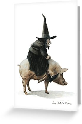 Witch on a Pig by JBMonge