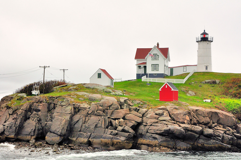 Cape Nubble Light, Maine, USA by fauselr