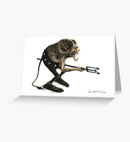 The Goblin and the Trident Greeting Card