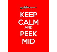 CSGO - Keep Calm And Peek Mid Photographic Print