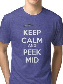 CSGO - Keep Calm And Peek Mid Tri-blend T-Shirt
