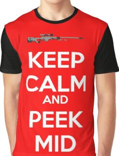 CSGO - Keep Calm And Peek Mid Graphic T-Shirt