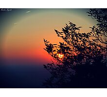 Sunset on Pilot Mountain Photographic Print