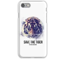 Save The Tiger iPhone Case/Skin