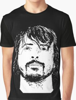 Dave Grohl Portrait - Hand Drawn - Foo Fighters Graphic T-Shirt