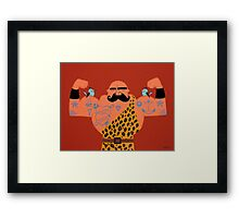 Muscle man. Framed Print