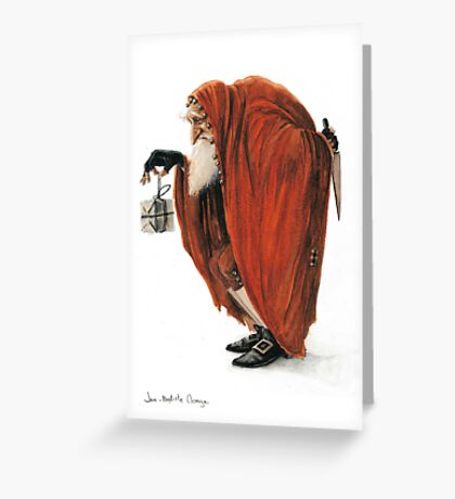 Bogey-Santa Greeting Card