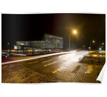 Ultramodern architecture at night Poster