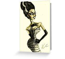 The Drag Bride of Frankenstein Greeting Card