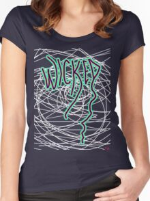 Wicked New England slang  Women's Fitted Scoop T-Shirt