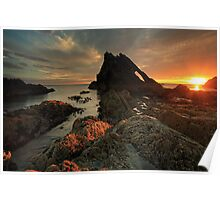 Bow Fiddle Rock Sunrise Poster