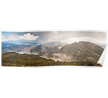 Crinkle Crags from Bow Fell - Cumbria Poster