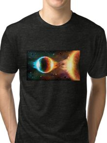 Space background Tri-blend T-Shirt