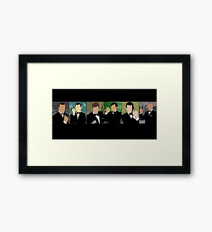 50 Years of the Coolest Secret Agent Framed Print