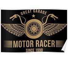 Motorbike badge Poster