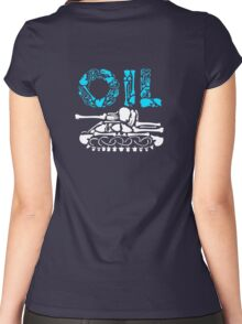 OIL  Women's Fitted Scoop T-Shirt