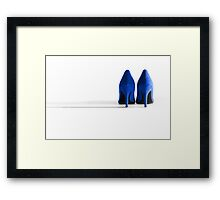 Blue High Heel Shoes Framed Print