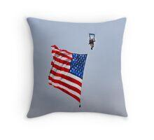 Waving the Flag Throw Pillow