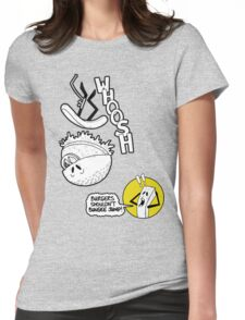Burgers Shouldn't Bungee Jump! Womens Fitted T-Shirt