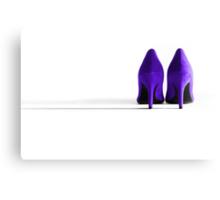 Purple High Heel Shoes Canvas Print