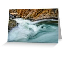Canyon and last light Greeting Card